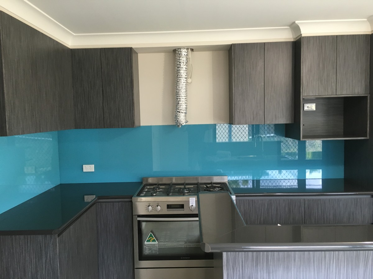 Blue Splashback - Glass Transformations - Glass Splash backs Wagga